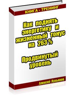 """Книга """"Как поднять энергетику на 263%"""""""